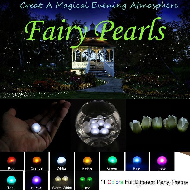 / pilhas de fadas Pérolas Mini LED Light, Multicolor Floating LED Bagas Luz Para Decoração do casamento do evento do partido