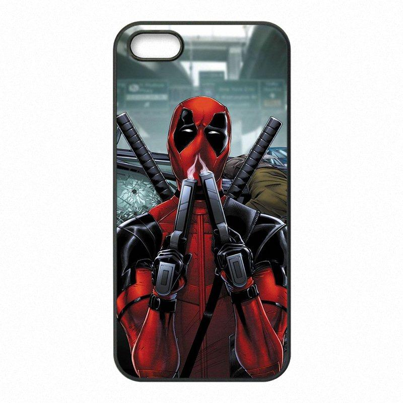 finest selection 54120 a8217 Superhero Deadpool Phone Covers Shells Hard Plastic Cases for iPhone 4 4S 5  5S SE 5C 6 6S 7 Plus ipod touch 4 5 6
