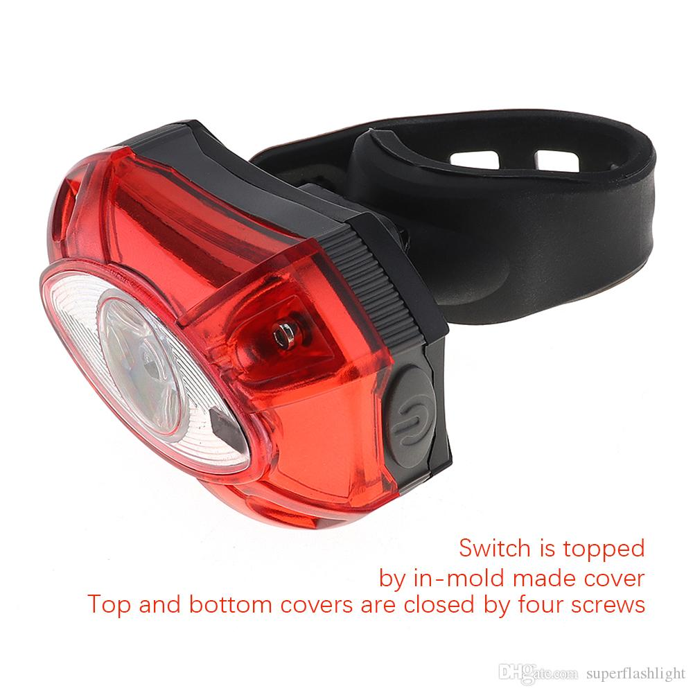 3W LED 3 Modes USB Rechargeable Bicycle Tail light for Bike Seatpost Red Color Super Bright BLL_50P