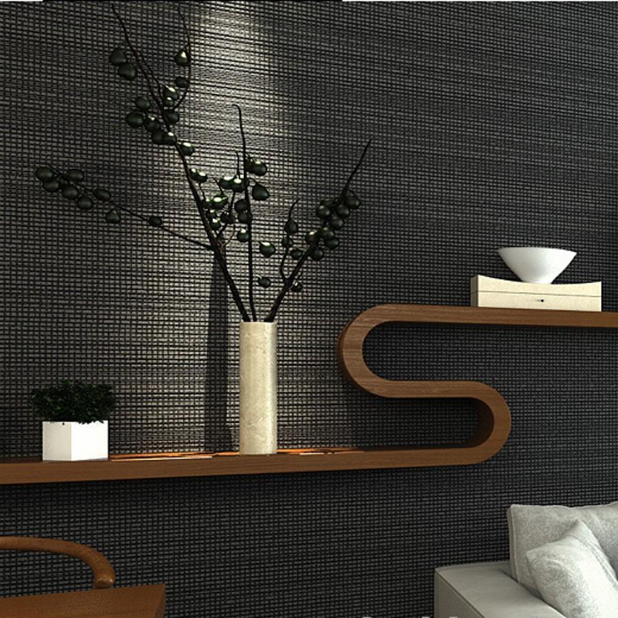 Silver grey texture wallpaper roll modern simple plain for Modern textured wallpaper