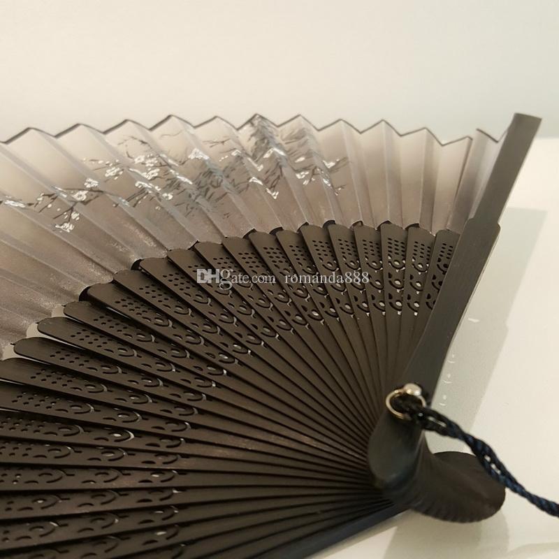 Chinese Folding Hand Fan Home Decor Silk Bamboo Flower Butterfly Pocket Fan Wedding Party Favor Folding Fans DHL