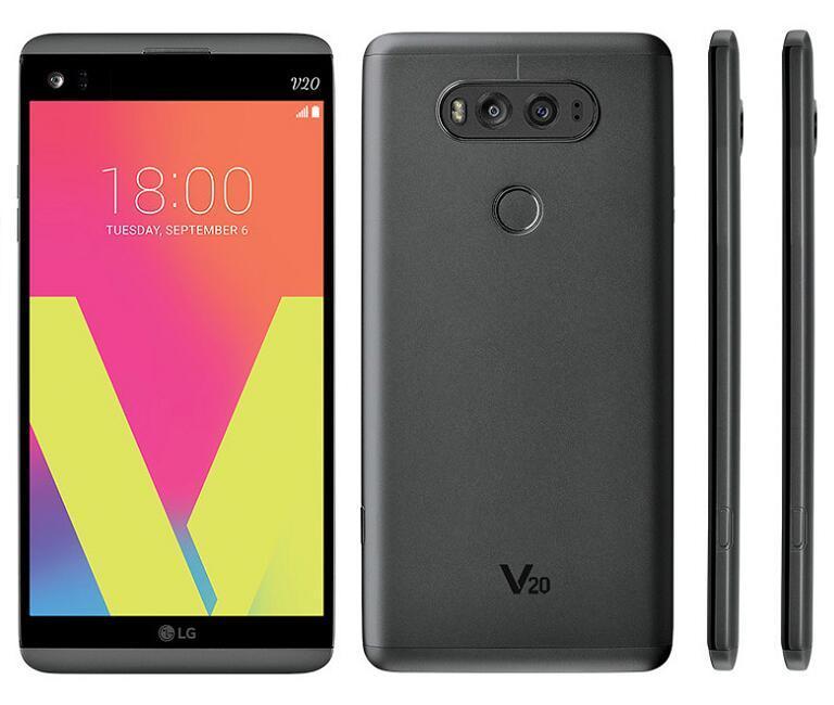 تجديد الأصلي LG V20 H910 H918 VS995 الهاتف الخليوي مقفلة 4GB / 64GB 5.7 بوصة المزدوج 16MP + 8MP الروبوت OS 7.0 4G LTE