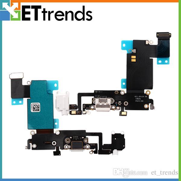 Alta Qualidade de carregamento Porto para 6S iphone acrescido de carregamento porta de áudio Flex cabo USB Dock Connector Replacement navio livre por DHL