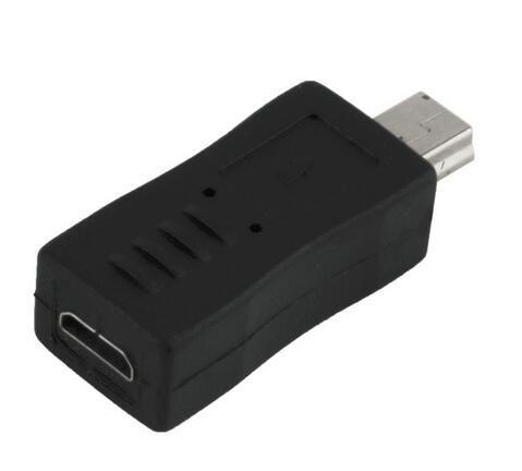 Nuovo convertitore portatile e alla moda da micro adattatore USB maschio a femmina da micro USB a colore nero Comodo da usare