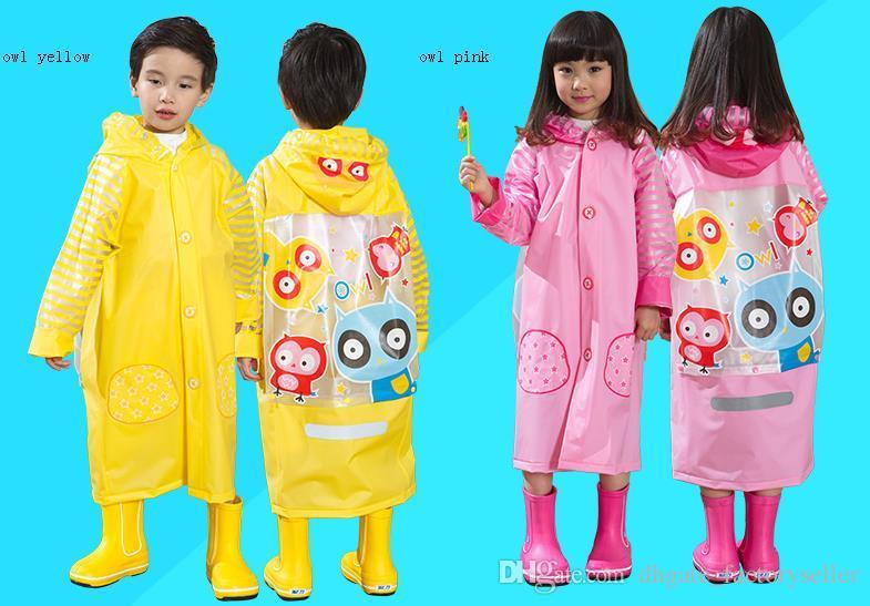 Children Raincoat 2016 New Cartoon Girl Boy Kids Students Bicycle Poncho Rain Coat Waterproof Rainwear For Outdoor