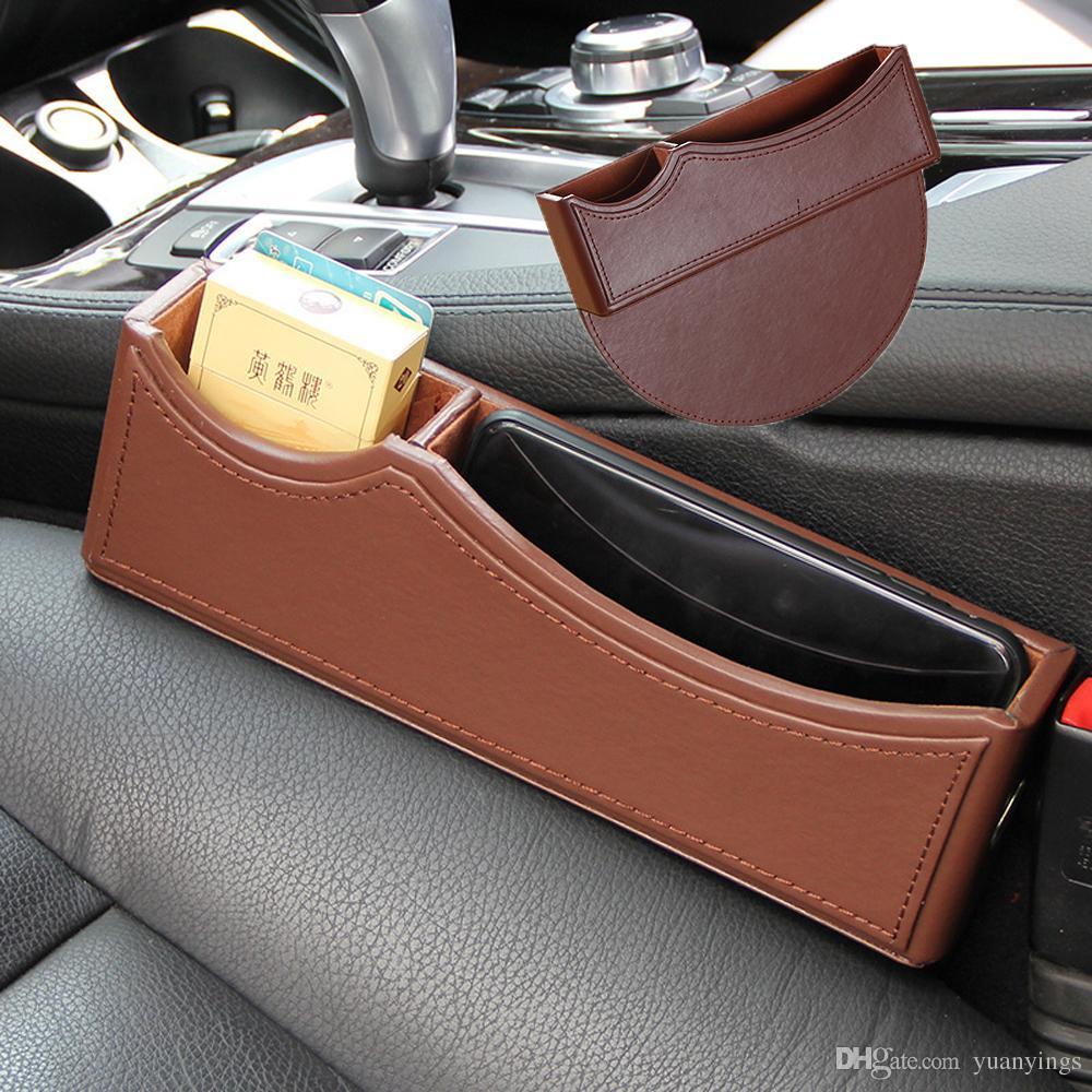 PU Leather Car Console Side Pocket,Car Organizer, Car Seat Catcher ...