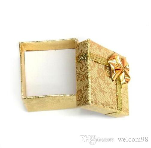 Gold Ring Earring Jewelry Boxes For Craft Gift Packaging Display 5x5x3cm BX5