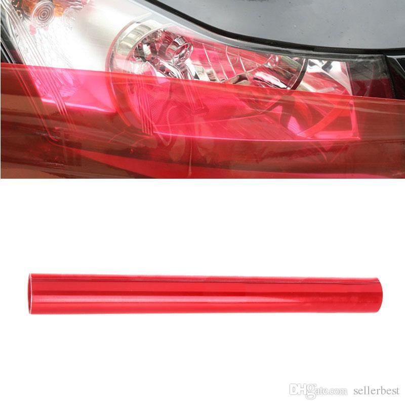 Vente chaude 120 * 30 cm Auto Voiture Lumière Phare Feu Arrière Teinte Vinyle Film Autocollant Feuille Lumière Noir De Voiture Lumière Couleur Changeant Autocollant