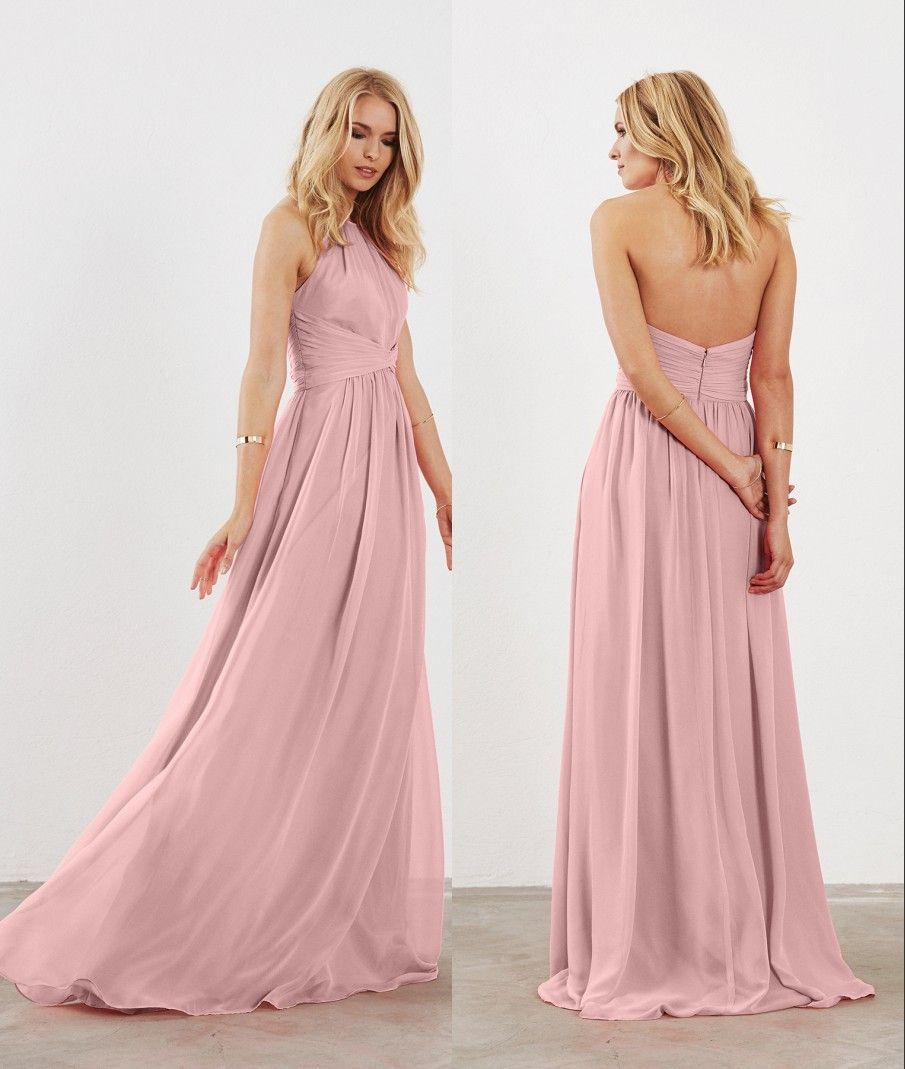 Lujoso Vestidos De Dama De Honor Halter Ornamento - Colección de ...