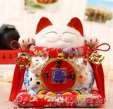 Lucky Cat Japanese TheJapaneseLuckyLucky Cat Ornamente Shop eröffnet Geld Sparschwein Größe Home Furnishing öffnete die Kasse