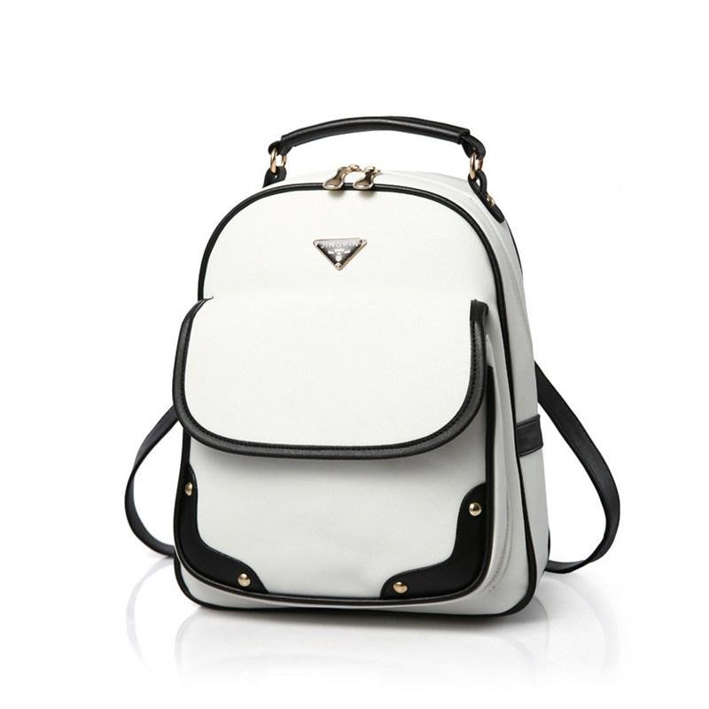 3d205389975b Wholesale Fashion Designer Women Backpack Girl School Pu Leather Shoulder  Bag Of Famous Brand Cute White Mini Black Book Bags Female Bolsa Cute  Backpacks ...