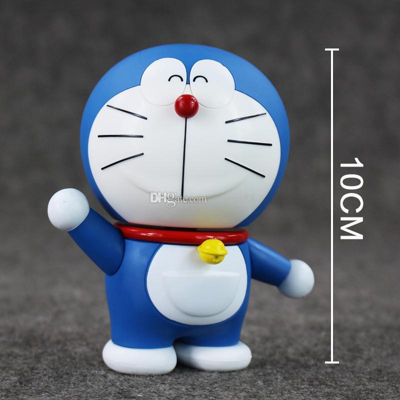 Anime Cartoon Doraemon Cat 10cm PVC Action Figure Model Toy for kids gift retail