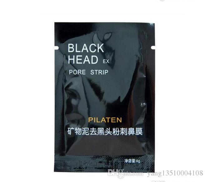 PILATEN Facial Minerals Conk Nose Blackhead Remover Mask Facial Mask Nose Blackhead Cleaner 6g pcsacial Mask Remove Black Head free shippin