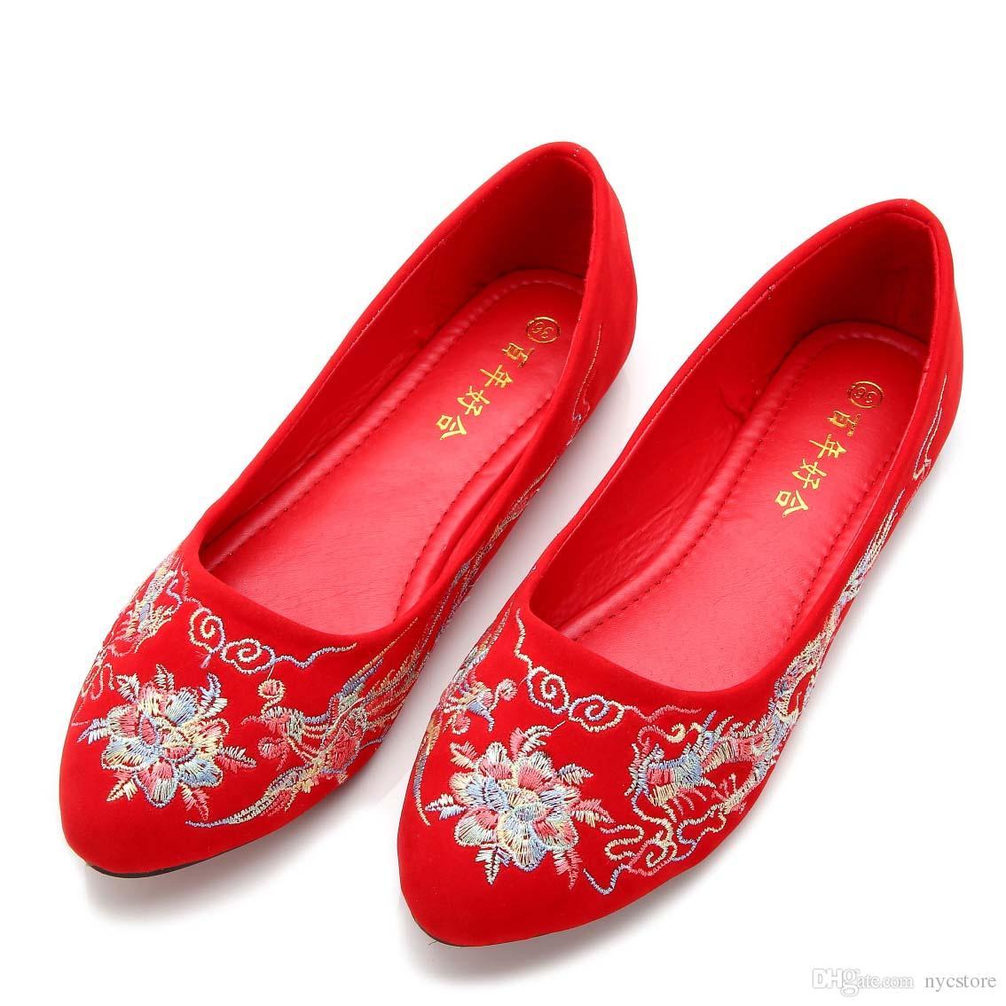 9613e865f Calçados Femininos Chinês Casamento Sapatos Vermelhos Sapatos De Salto Alto  Nupcial Sapatos Cheongsam A02 Calçados Online De Nycstore, $17.29 |  Pt.Dhgate.