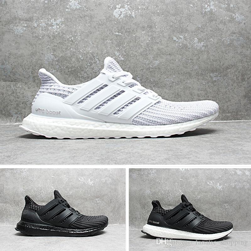 new concept 9a33b a0228 2018 newest ultra 4.0 core Triple Black white Primeknit Runner fashion  Running sneaker sports shoes for men women Eur36-45