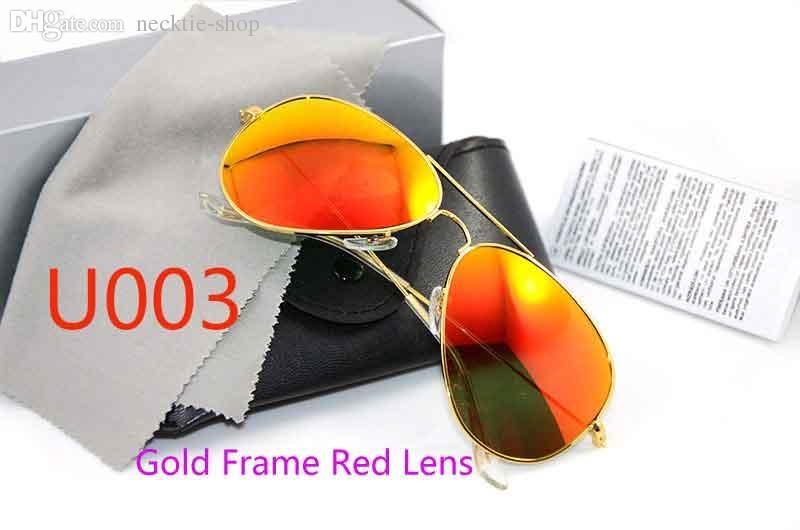 UV400 protection Mirror sunglasses Glass Lens 58mm Sunglasses pilot mens Sun glasses Brand Designer Womans glasses with Original cases
