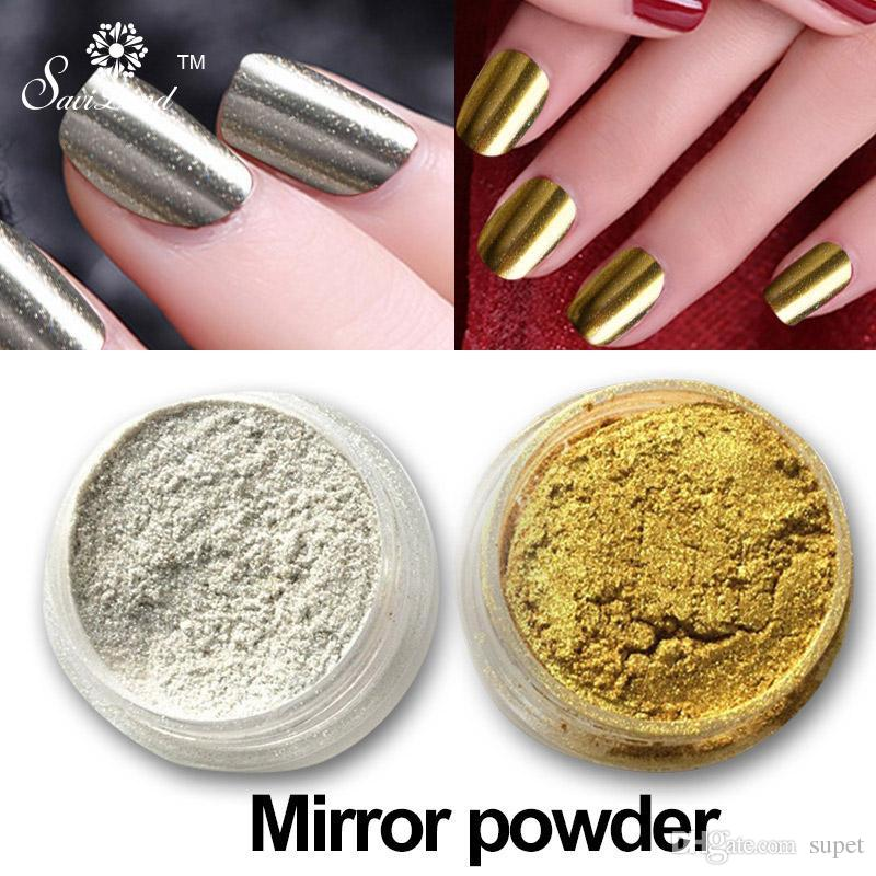 Wholesale Mirror Powder Gold Silver Pigment Nail Glitter Nail Art ...