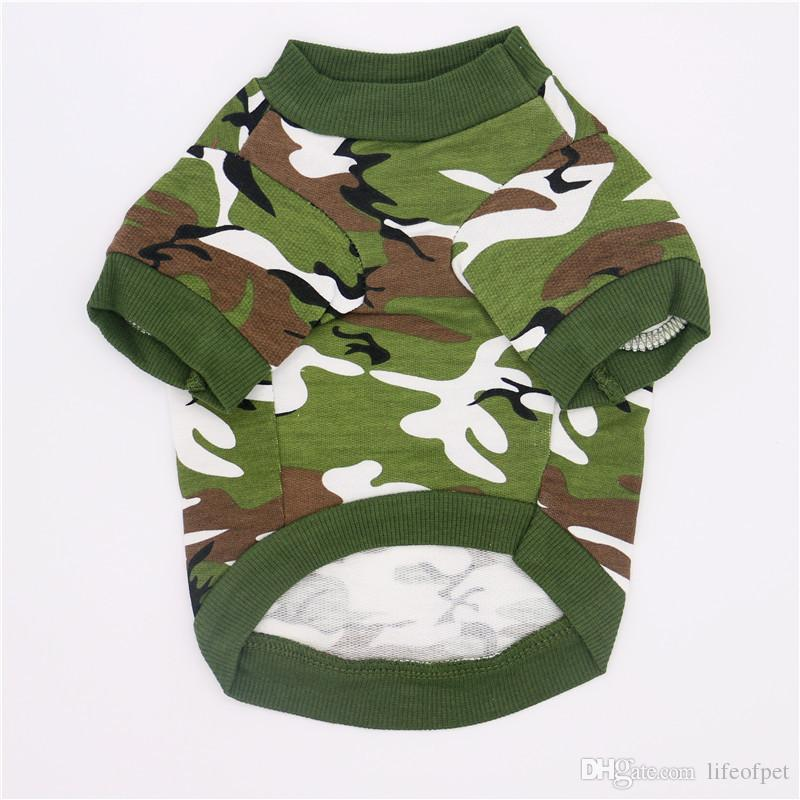 Pet Dog Cat T Shirt Clothes Dog Vests Cotton Apparel Puppy Camouflage Soft Coat Small Dog Chihuahua Clothes