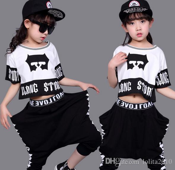 a22296941 2019 2017 Girls Sporting Suits Summer Autumn Girls Hip Hop Clothing ...