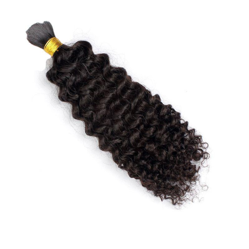 8A Afro Brésilien Kinky Curly Non traité Human Hair Tressage Pas beaucoup de produits en vrac Trame cheveux pour le noir afro-américain Cheveux naturels