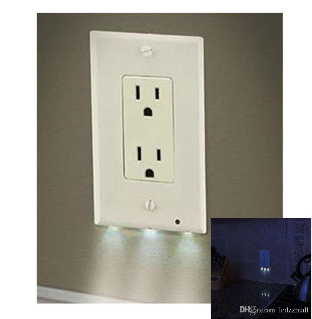 2018 outlet wall plate with led night lights no batteries or wires 2018 outlet wall plate with led night lights no batteries or wires installs in seconds for you from ledzzmall 548 dhgate aloadofball Image collections