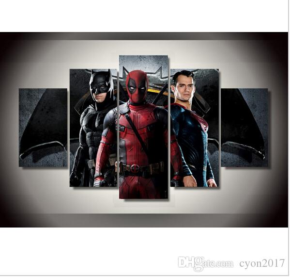 2017 Promotion Fallout Wall Art No Framed Batman Superman Deadpool Painting On Canvas Room Decor Print Picture Paintings