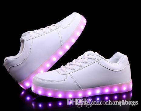 online cheap online New Arrival Korean Style Loves 7 Colors USB Charging LED Luminous Casual Flat Shoes Men Women Multi Color Glowing Sneakers 100% original for sale sale original M6fMqzHp