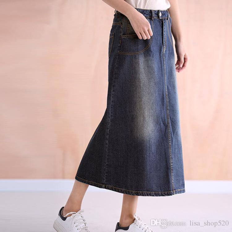623a628847e 2019 Spring Autumn Jeans Skirt Denim Skirts Long Skirt High Waist Jeans Maxi  Sexy Side Split Slim Jeans Women Skirts Pencil Skirt Women S Skirts From ...