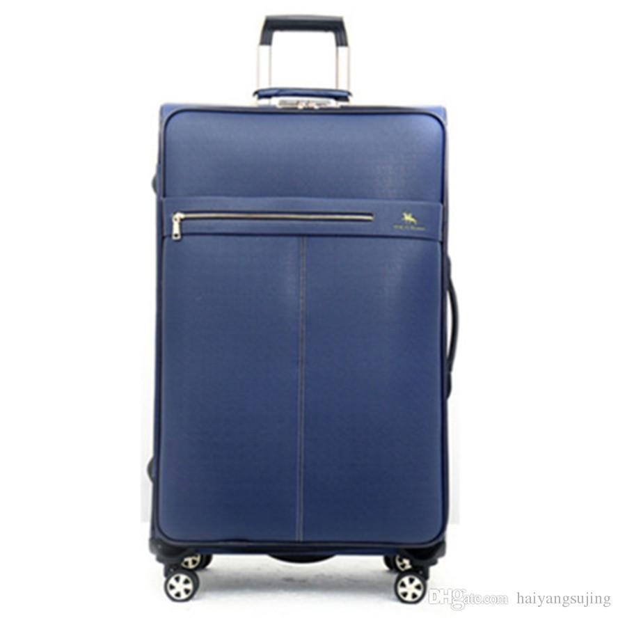 b152513e3d14 20 2428 дюймов искусственная кожа бизнес тележка чехол сумка универсальные колеса  путешествия камера мужчины женщины чемодан сумки spinner колеса тяги