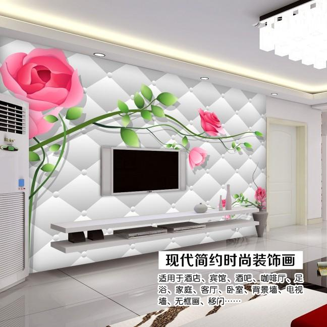Art Customized Mural Tv Wall Paper Sofa Wallpaper Bedroom Living