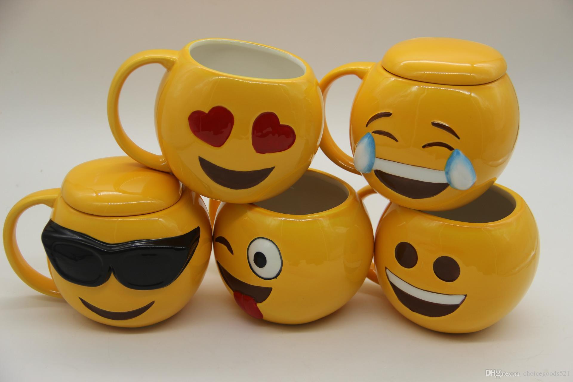 2019 6 Designs Lovely Smiling Face Emoji Mug Porcelain