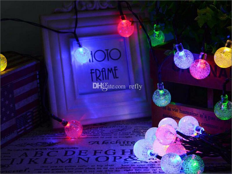 30 Leds 조명 파티 크리스마스 태양 빛 주도 크리스마스 조명 LED 문자열 빛 램프 태양 문자열 전구 방수 650 만