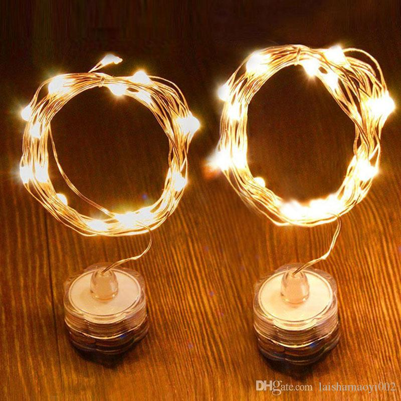 LED Light String Waterproof Candle Copper Wire String 10M Lamp Beads ...