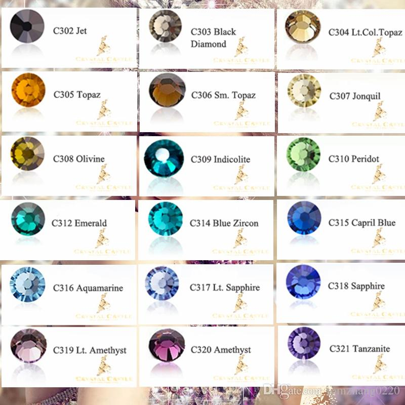 SS6 1.9-2.0mm Excellent Grade AAAAA Blingbling Eyelash Crystal Strass Hotfix  Stone Flatback Rhinestones Hot Fix For Nail Art fc3b82854ca9