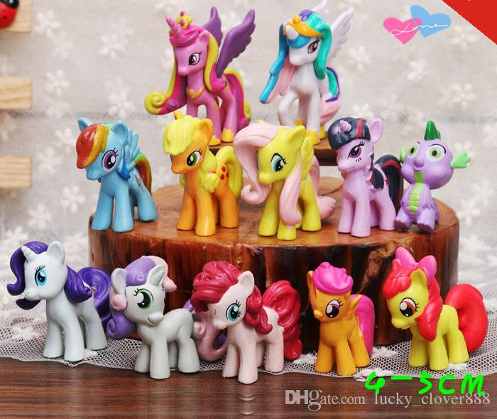 2019 My Little Pony Action Figures Cartoon Movie Figurine Ponies Princess Celestia Luna Kids Doll Toy Gifts Cake Topper Decor From Lucky Clover888