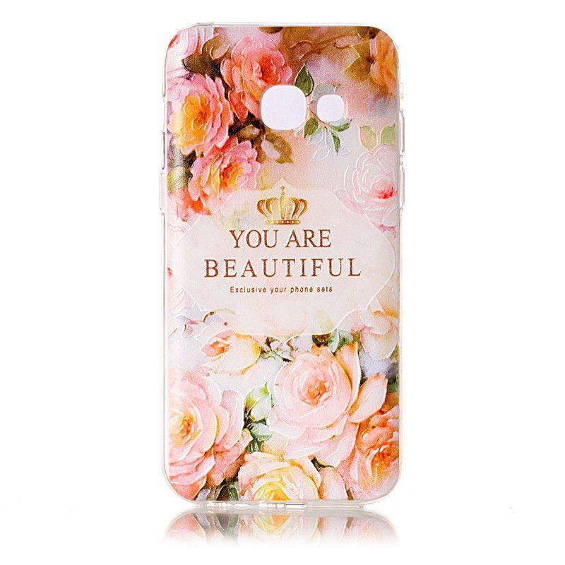 Guscio di pelle Samsung Galaxy A3 A5 J3 J5 J7 2017 / S7 S7 Bordo S8 S8 Plus Xiaomi Redmi Note4 TPU IMD Custodia Morbida gomma di silicone Copertura del telefono in silicone