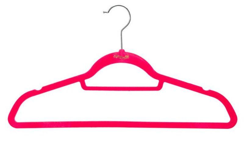 45cm Closet Velvet Hangers Functional Non-slip Thin Magic Flocking Space Save Storage Racks Home Office Shop Window Display
