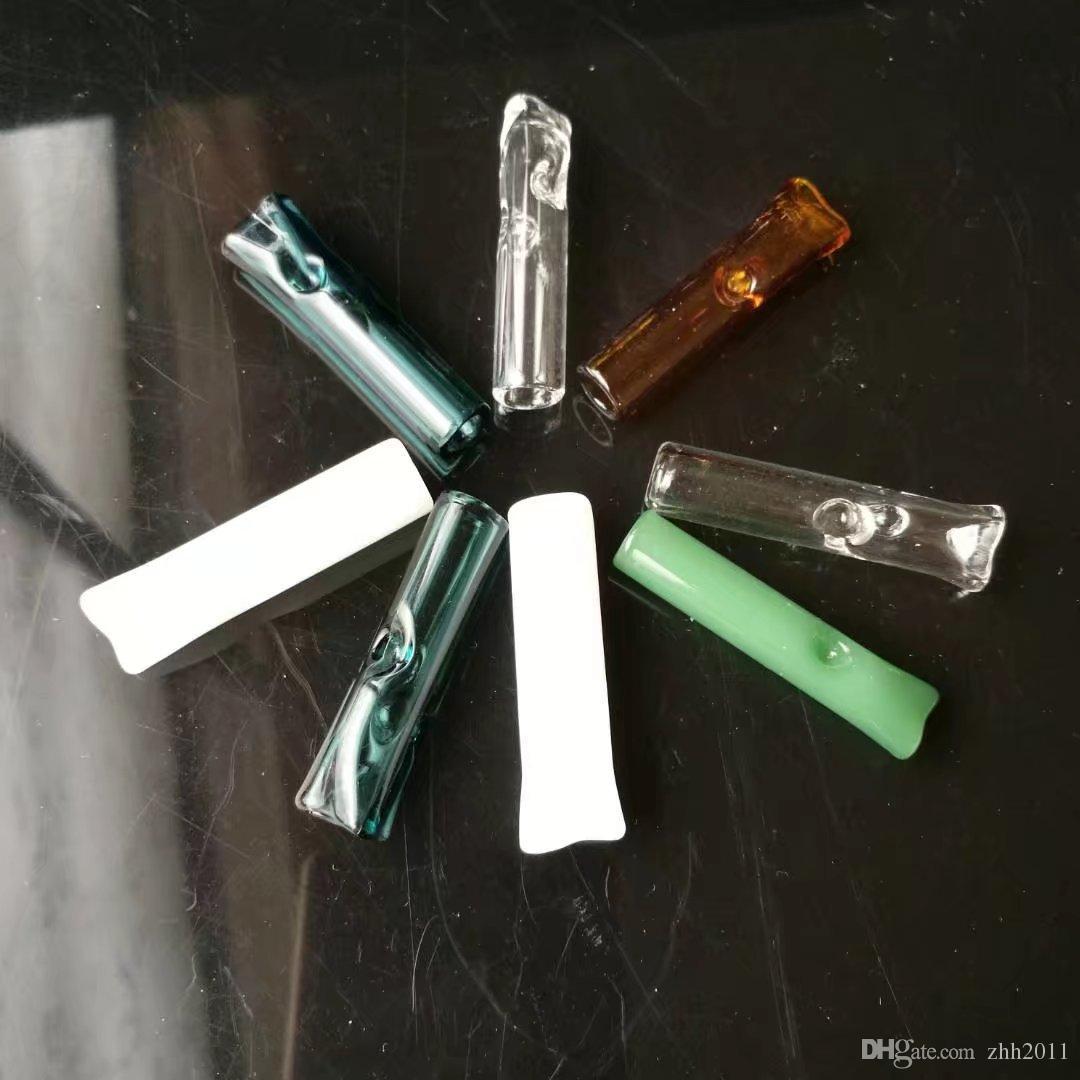 Toptan renk cam çevresel ısırma ağız, el Üflemeli Recycler İyi Yağ Brülör Sigara Borular renkli cam boru Sap Borular