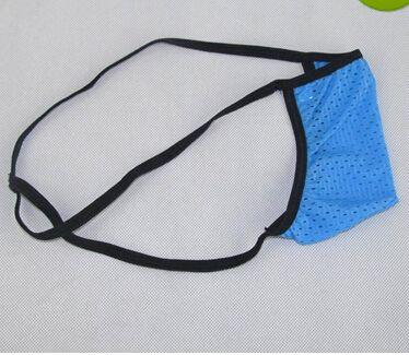 Großhandel - New Fine Sexy Mens Thongs Micro Unterwäsche japanischen Stil kleine Tasche Limit Abdeckung Öse Nylon Spandex