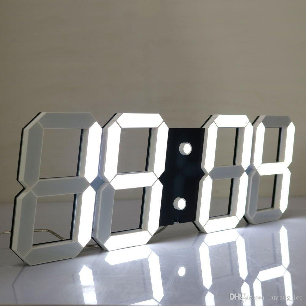 Large Display Led Wall Clock With Remote Control Countdown Count