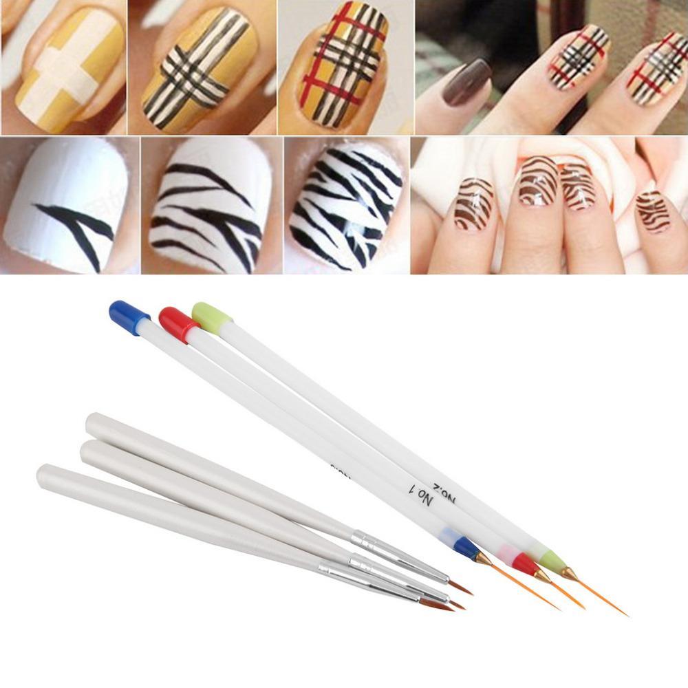 Acrylic French Nail Art Liner Painting Drawing Pen Brush Tool Kit ...