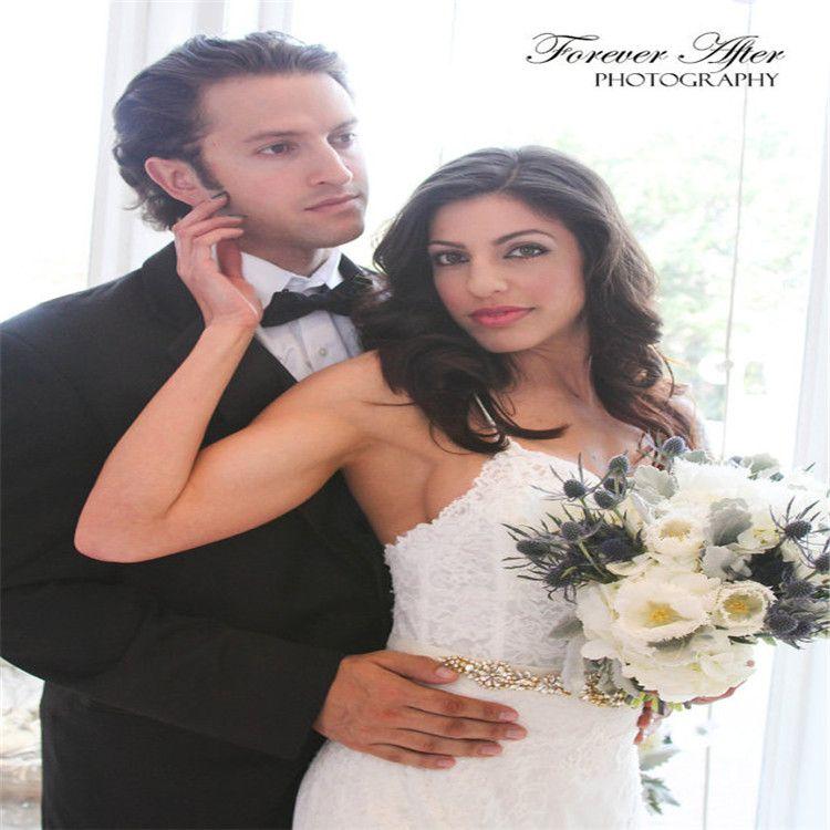 Handmade Silver Rhinestones Appliques Wedding Belt Clear Crystal Sewing on Bridal Sashes Wedding Dresses Sashes Bridal Accessories T15