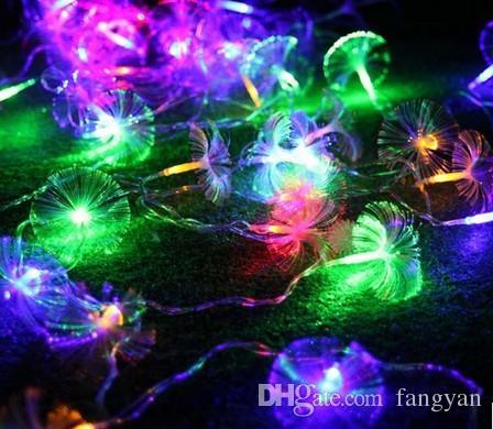 2,5M10 LED de fibra de fibra lâmpada de bateria luzes decorativas luz noite luz decoração decoração sala de casamento decoração LED bateria lanterna string