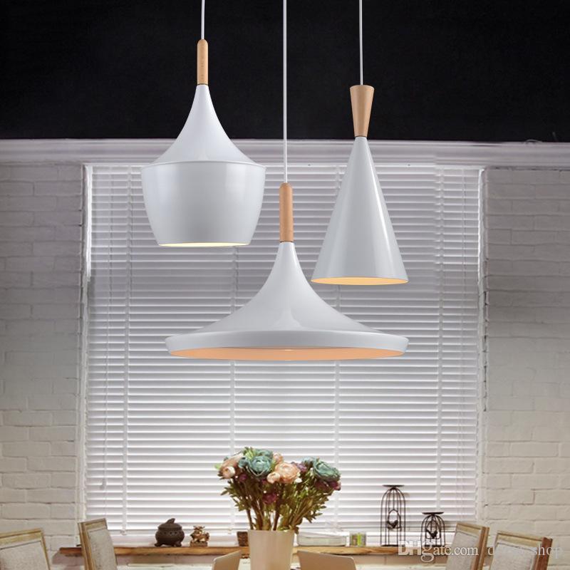 Modern Pendant Light Wood Metal Lamp E27 Socket Loft Hanging Light suit White Fixture Industrial Lighting Lamparas