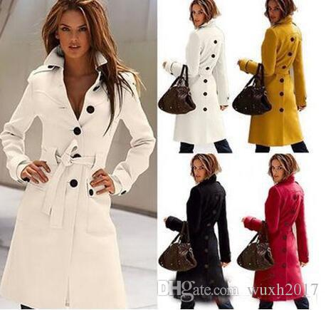 2018 2017 Autumn Winter Wool Coat Cashmere Middle Length Women'S ...