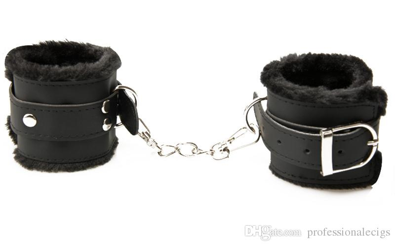 BDSM Bondage Set Blindfolds Ball Gag Wrist Ankle Cuffs Collar Whip Rope Feather Flirt Fetish Slave Restraint Bondage Belts Sex Toys