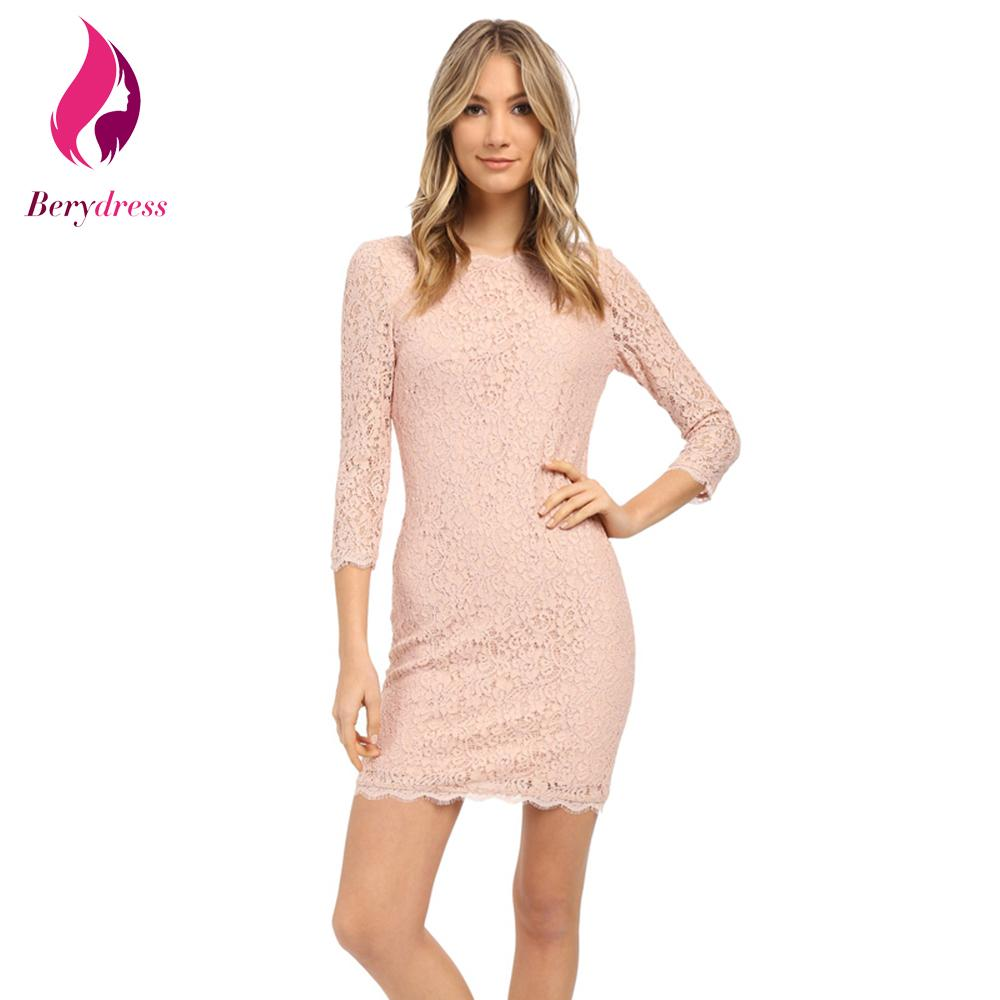 a5dde6eff6 2018 Wholesale Berydress Plus Size Lace Dress With Sleeves Stretchy Wedding  Party Vestidos De Festa Lavender Summer Pink Women Dresses 2017 New From  Cacy