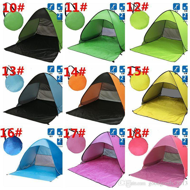 Outdoor Quick Automatic Opening Tents Instant Portable Beach Tent Beach Tent Beach Shelter Hiking Camping Family Tents For 2-3 Person b1163-