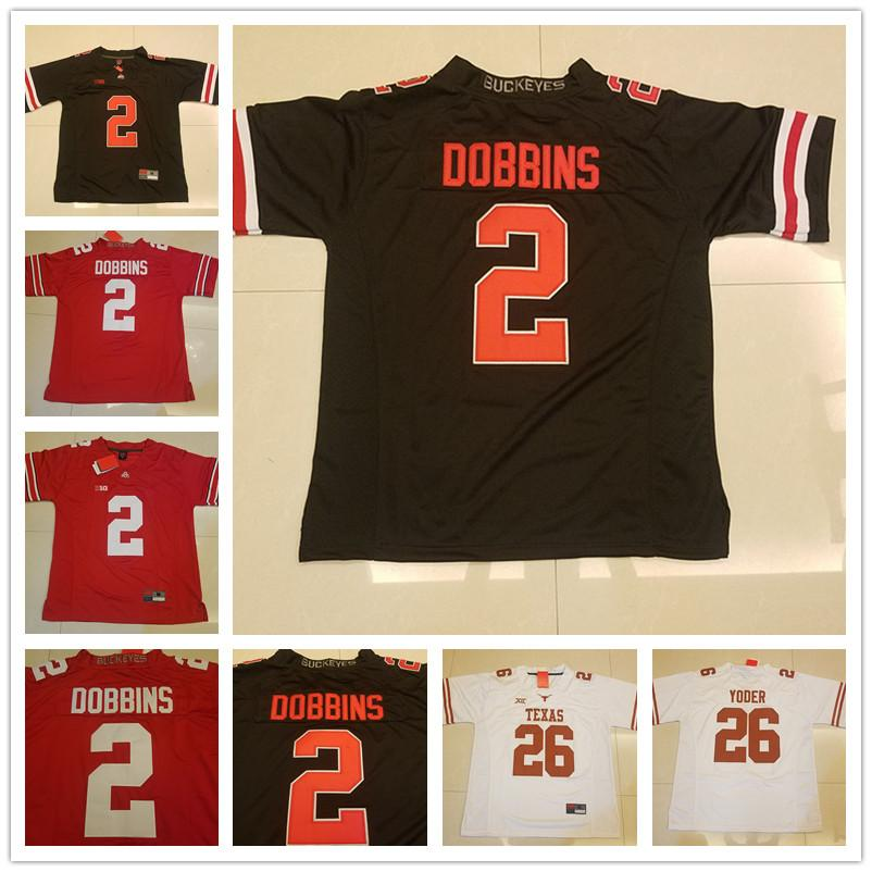 46653d29f1a Mens Womens Kids Ohio State Buckeyes 2 J.K. Dobbins Red Blackout ...