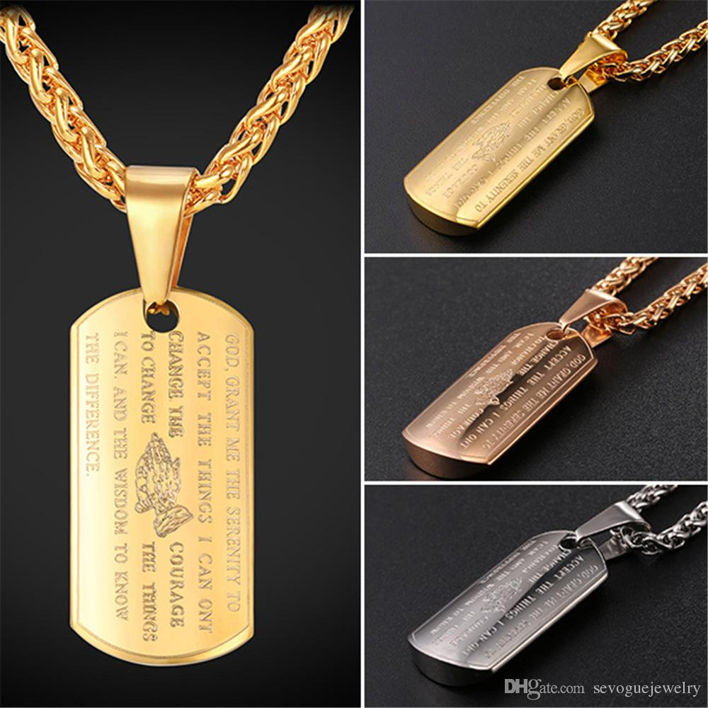 Stainless steel dog tag pendant with holy bible and cross necklace stainless steel dog tag pendant with holy bible and cross necklace for men 18k gold platedrose gold plated fashion jewelry dao tag necklace men 18k aloadofball Gallery